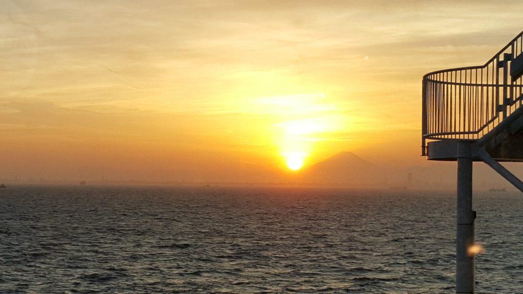 海ほたる 夕日